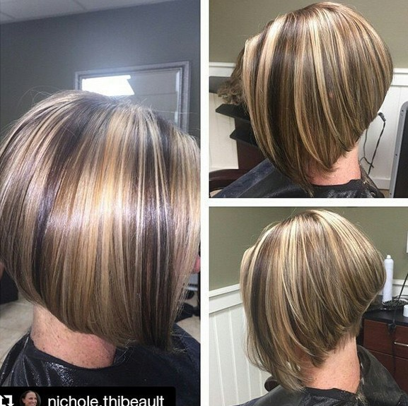 Highlighted Inverted Bob Haircut With Layers
