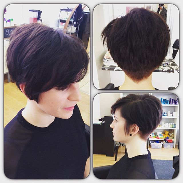 layered Short Pixie Cut with long bangs - Hairstyles Weekly