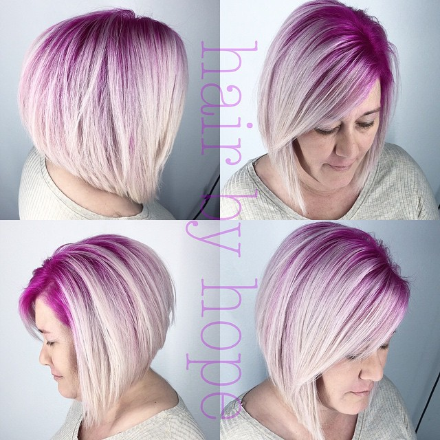 layered ombre Inverted Bob Hairstyles