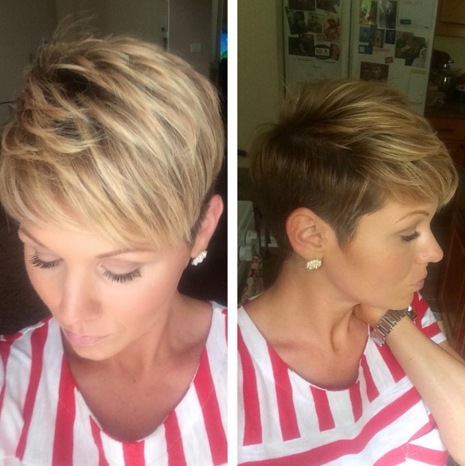 layered pixie cut for short hair