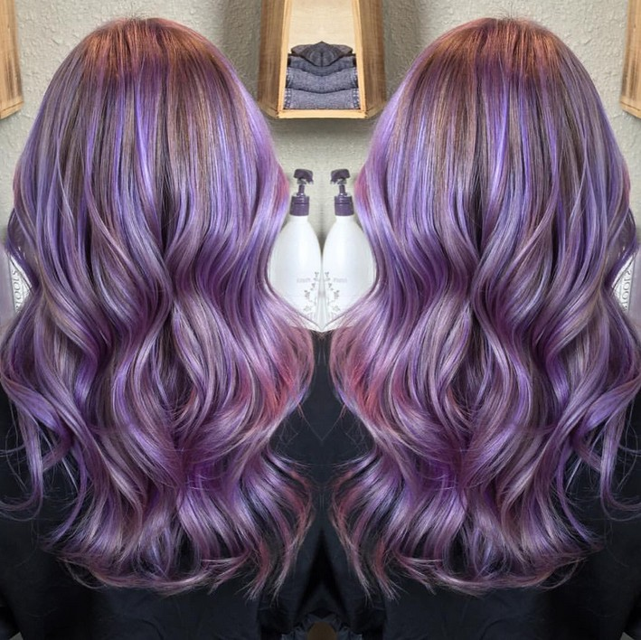Hairstyles Purple : ... Purple Hairstyles for Short, Long and Mid Length Hair - Hairstyles
