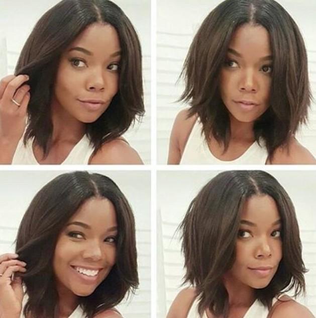 medium choppy bob hairstyle for black women