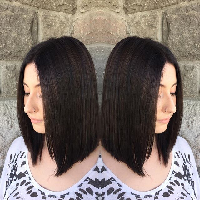 medium length hair ideas - the long a-line bob cut