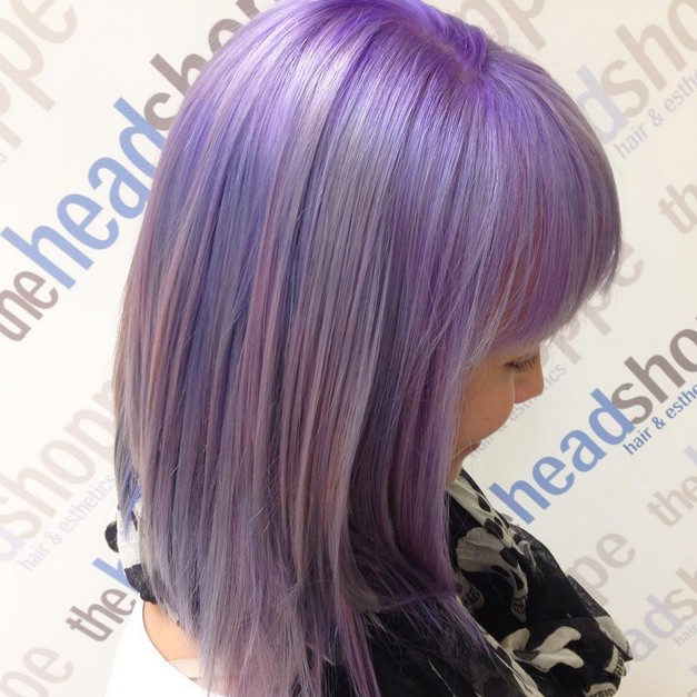 Wondrous 20 Gorgeous Pastel Purple Hairstyles For Short Long And Mid Short Hairstyles Gunalazisus