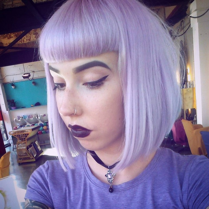 Hairstyles Purple : Short Black Hairstyles With Purple Highlights Best Hairstyles ...