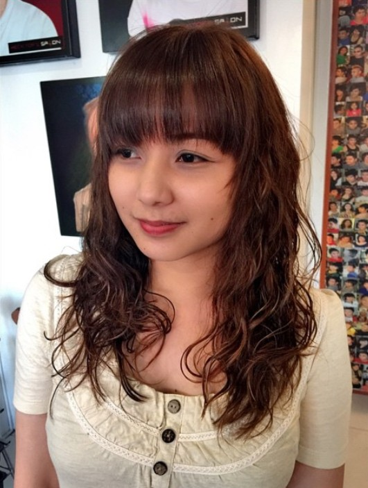 ... : 1984 Perm Short Hairstyle Permed Brunette Hair Was Cut Into Short