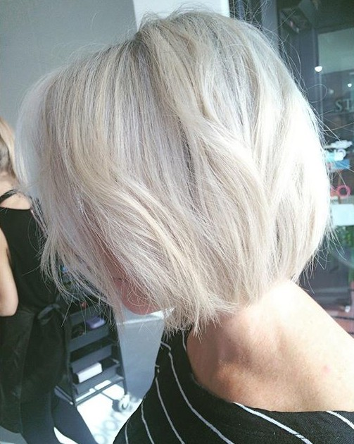 Platinum Blonde Bob Hairstyle For Women Over 40 Hairstyles