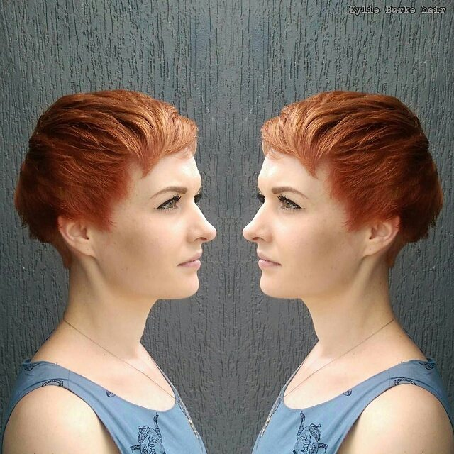 Redhead Short Copper Pixie Cut Hair Color Ideas Hairstyles Weekly