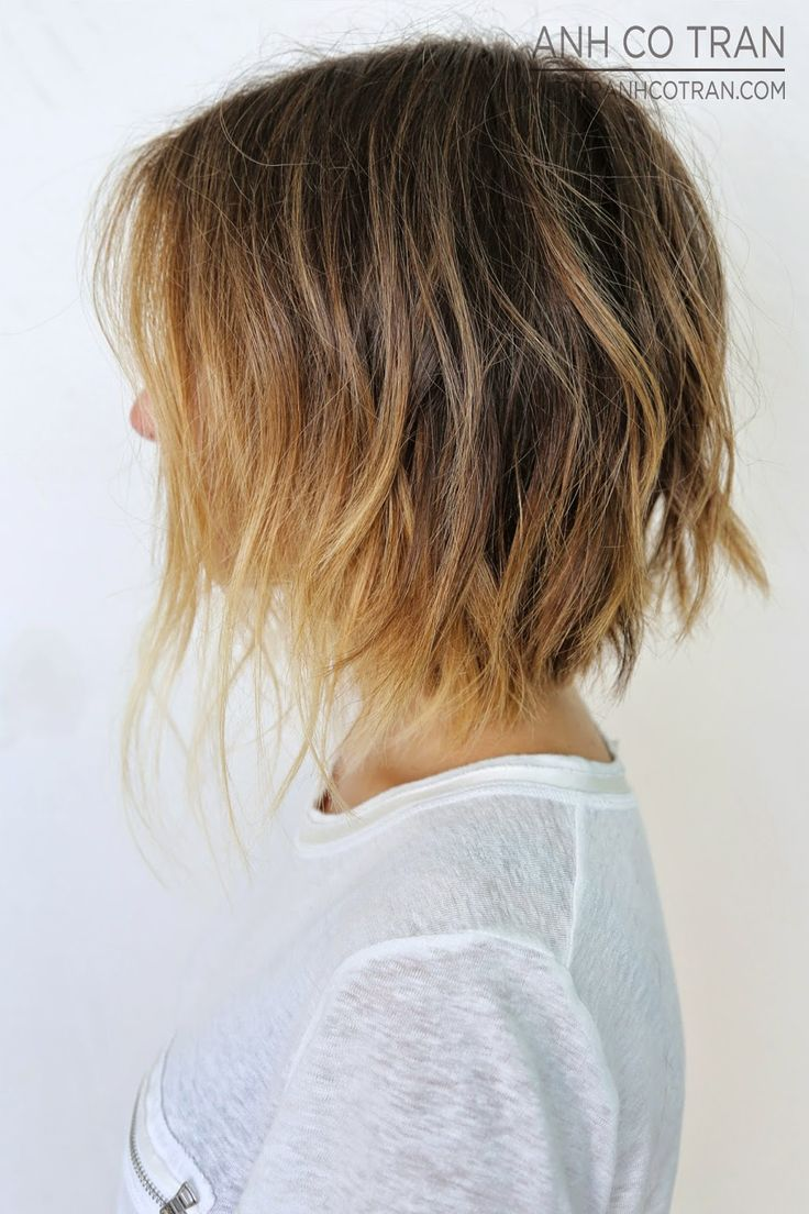 Sexy Layered Choppy Ombre Bob Haircut For Short Hair Hairstyles Weekly