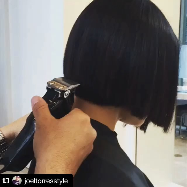 short black blunt bob hairstyle for African American women