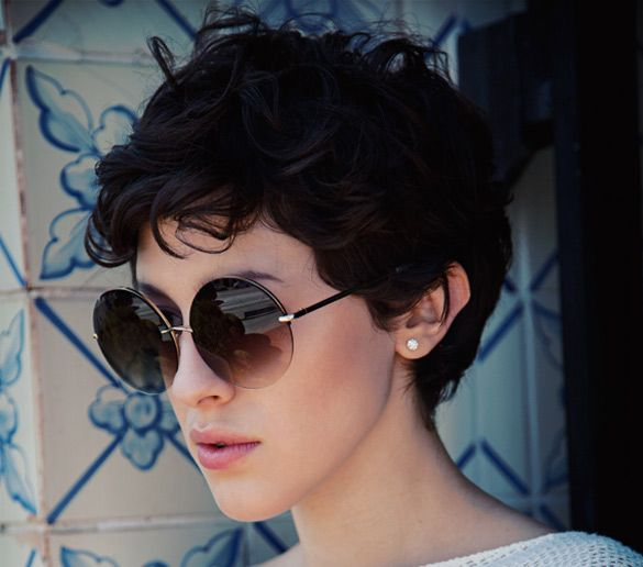 short black curly pixie cuts