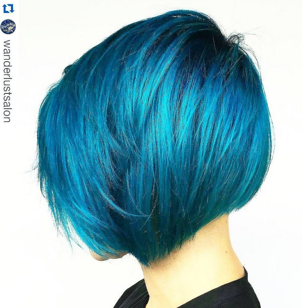 Short Layered Blue Bob Hairstyles Hair Color Ideas Hairstyles Weekly
