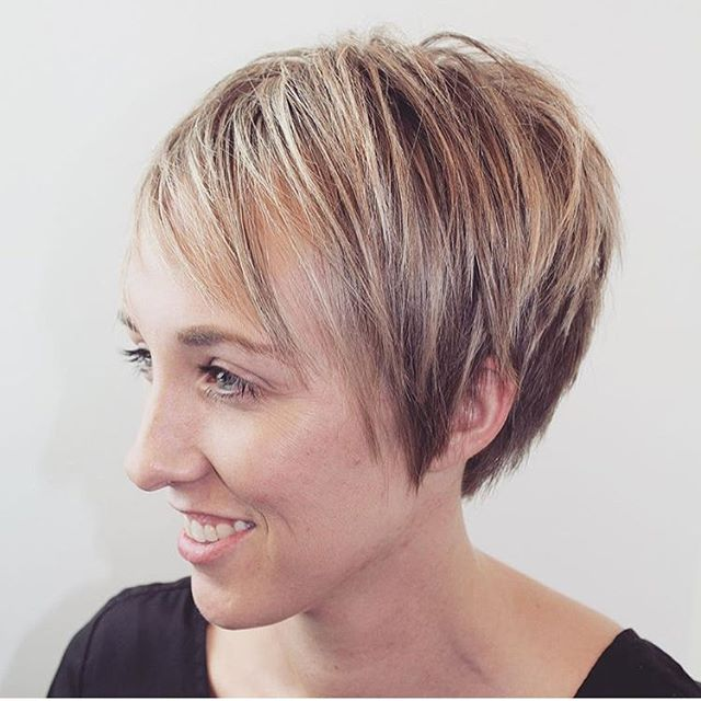 short pixie cut for fine thin hair