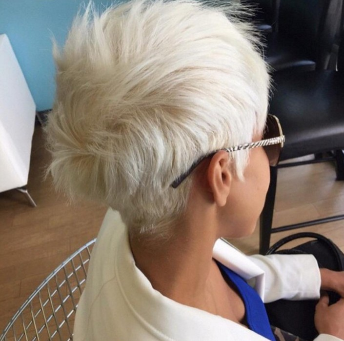 Short White Hair With Glasses