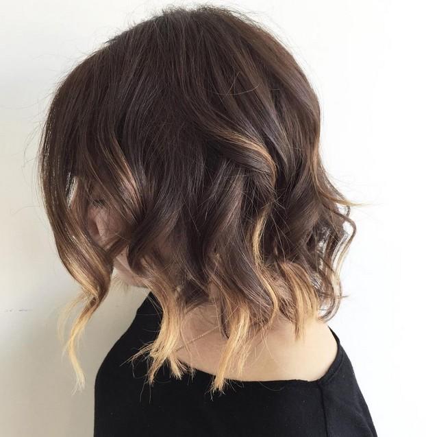textured choppy bob hairstyle ombre bob medium
