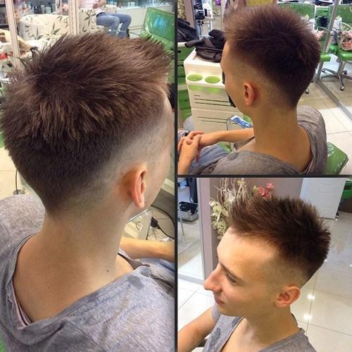 trendy short haircut for men - Faux Hawk