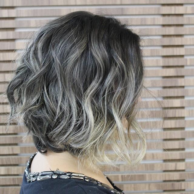 trendy soft wavy messy bob haircut