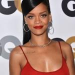 Rihanna Long black sleek hairstyle