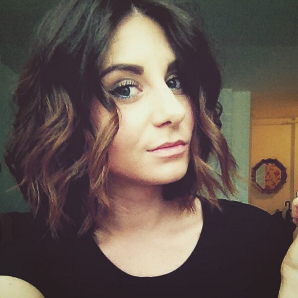 messy ombre bob hairstyle