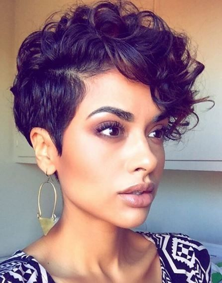 Curly Pixie Cut 2017