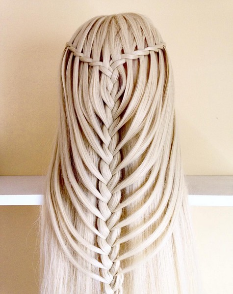 20 Waterfall Braid Ideas - A Collection of Lovely Waterfall Braids
