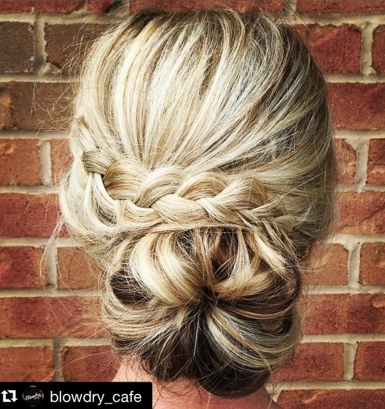 A casual yet chic updo perfect for any wedding or prom