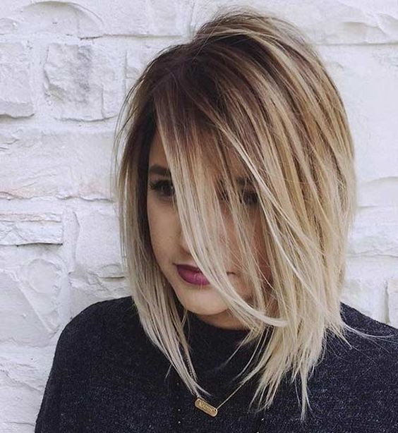 Balayage Ombre Lob Haircut Ideas Girl Hairstyle For Thick Hair Hairstyles Weekly