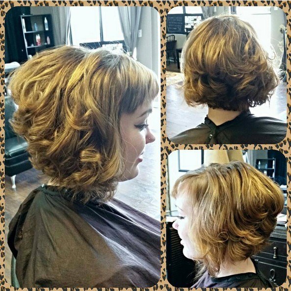 Bouffant Bouncy Waves For Perky Party Stacked Haircuts With Bangs Wavy Bob Hairstyle