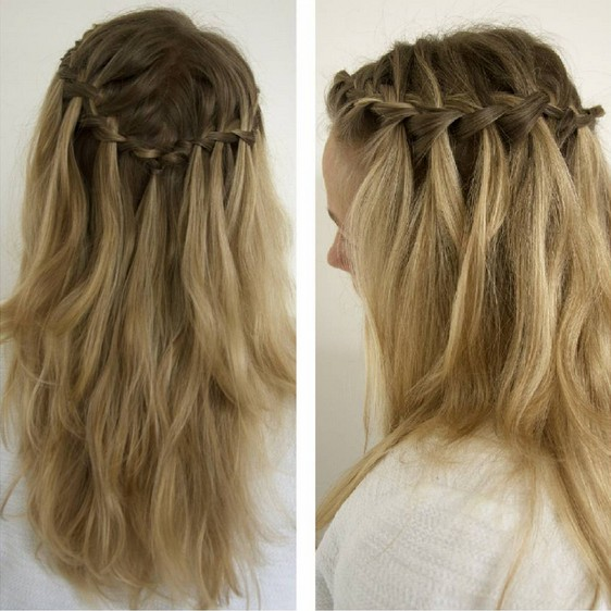 Cute Everyday Short Hairstyles: 20 Best Waterfall Braid Hairstyle Ideas