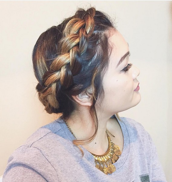 Cute Milkmaid Braided Hair Styles