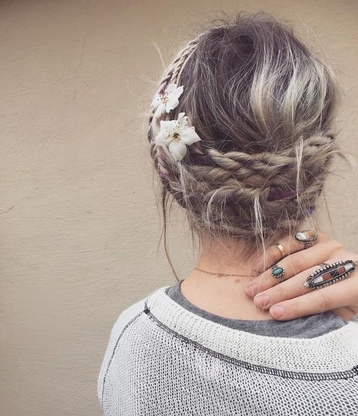Disheveled Braided Bedhead Hairstyle - Summer Hairstyles