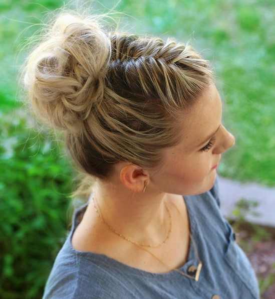 Fishtail Braided Mohawk updos - quick NEW updo hairstyle tutorial