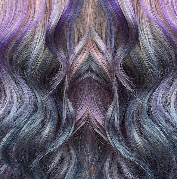 Galaxy Hair - Stylish Hair Color Trends 2016