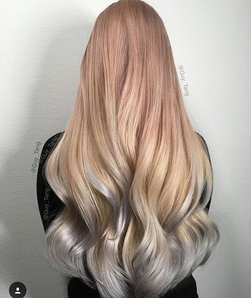 Gorgeous Two Tone Hairstyles with Long Hair
