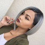Grey, Bob Haircut with Straight Hair - Medium Bob Hairstyles