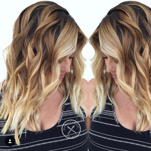 Layered, Wavy Haircut - Balayage, Shouler Length Hairstyles