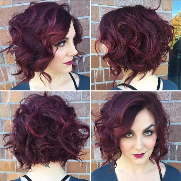 short stacked curly bob hairstyles short hairstyle 2013
