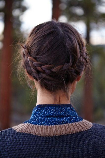 Milkmaid Braided Hairstyle Ideas for Medium, Short Hair