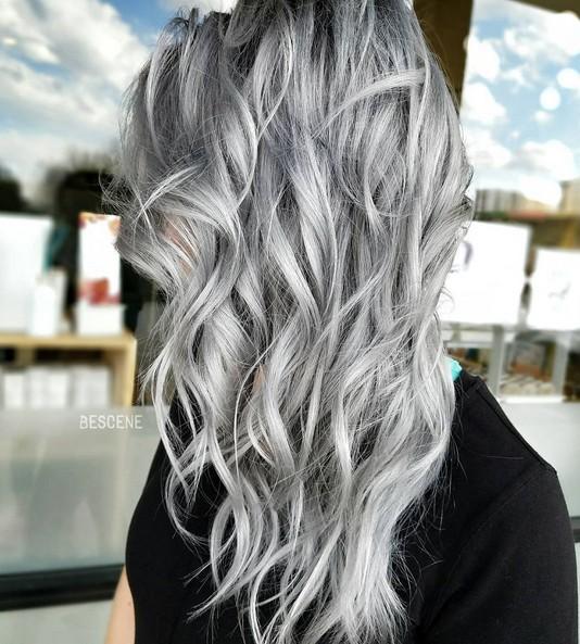 20 Trendy Gray Hairstyles Gray Hair Trend Balayage Hair Designs Hairstyles Weekly