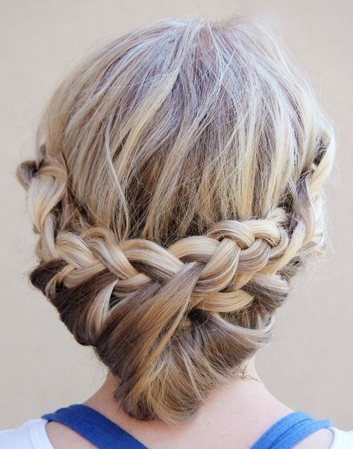 Princess Bun Updos with Loose Braid - Updo Hairstyle Tutorial