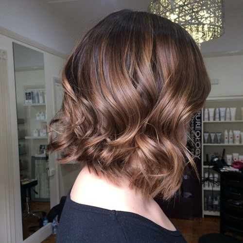 Soft Wavy Brown Bob