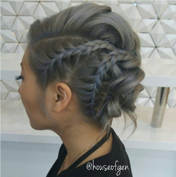 hair up styles for mid length hair 25 chic braided updos for medium length hair 8016
