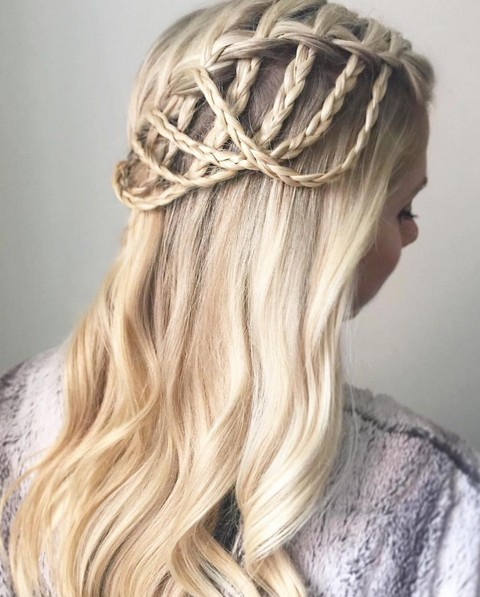 how to make waterfall braid on yourself