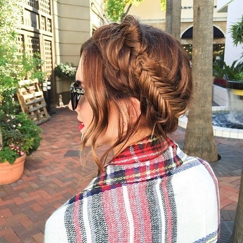 Thick Fishtail Milkmaid Braid