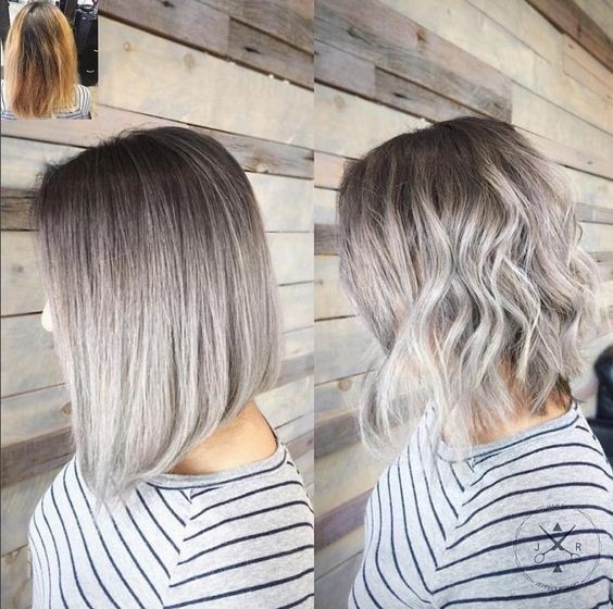 ... - Gray Hair Trend & Balayage Hair Designs - Hairstyles Weekly