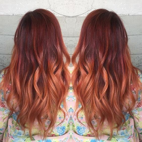 Beauty Red Hair - Balayage Ombre