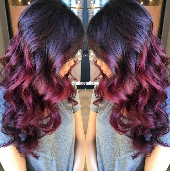 Ombre Hairstyles with Curly Long Hair - Women Haircut