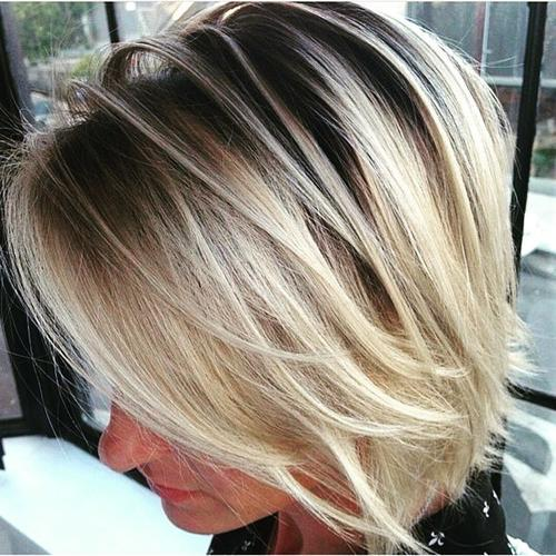 Black and Blonde Bob