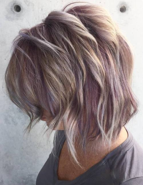 Blonde and Purple Bob