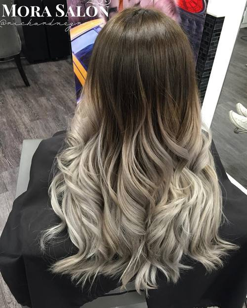 Blonde and Sliver Long Curls